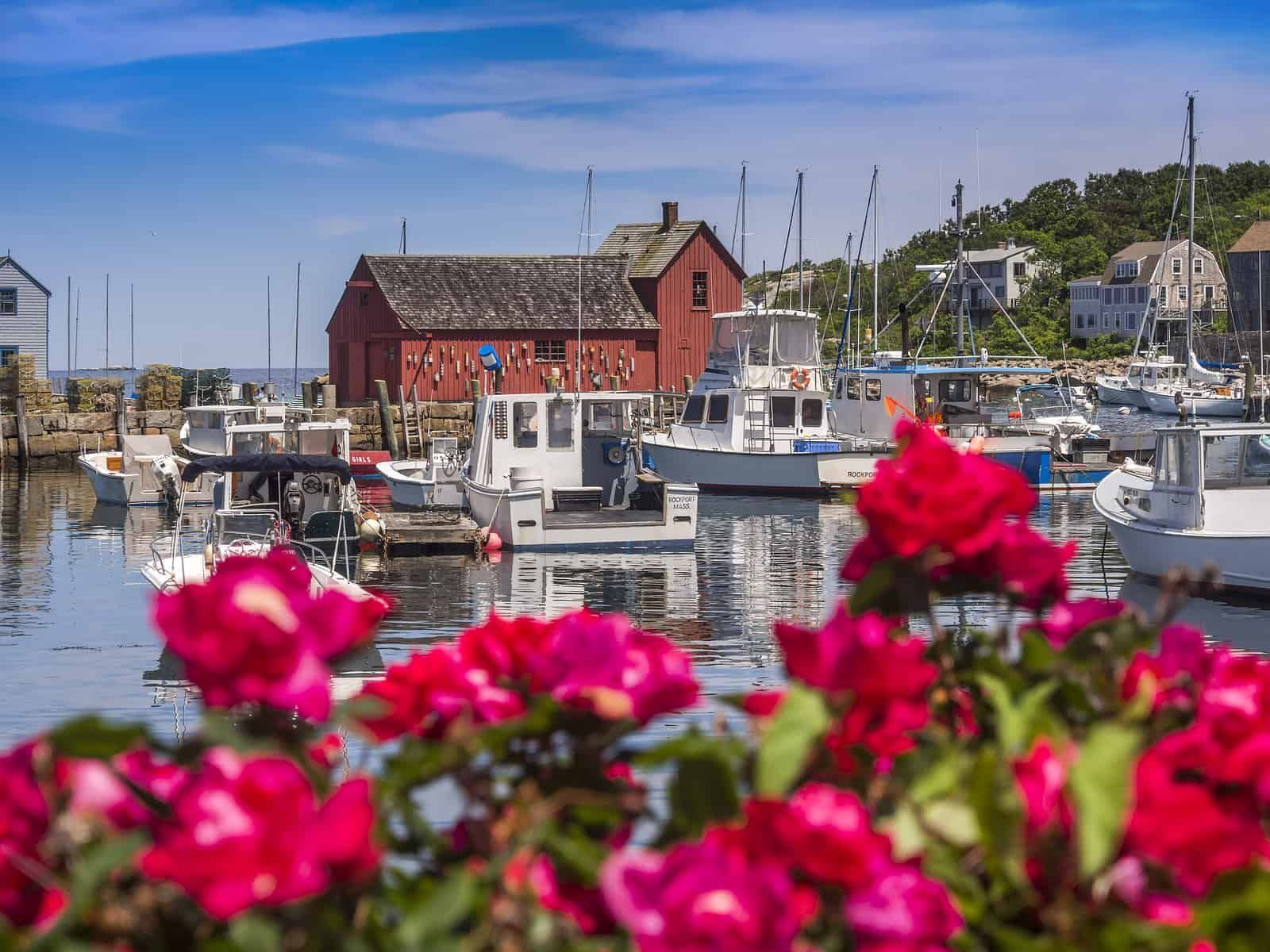 Motif #1, fisherman's shack in Rockport harbor, massachusetts, USA