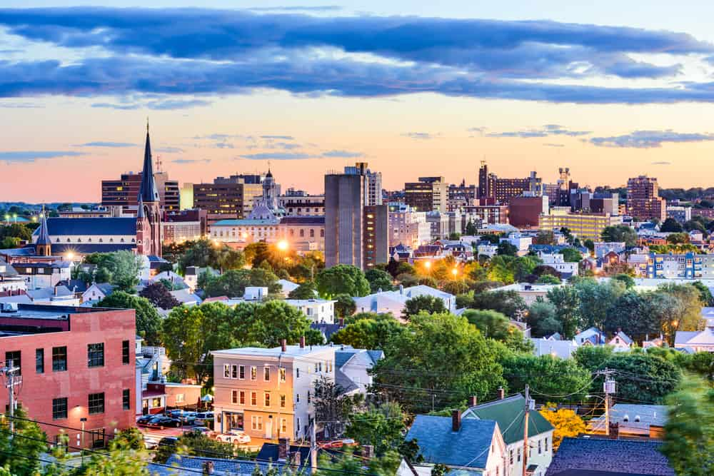 things to do in portland maine - Portland, Maine, USA downtown skyline.