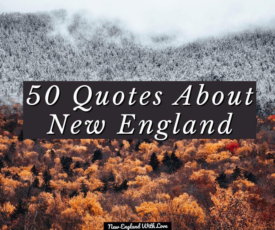 quotes about new england header image - winter and fall together on a mountain