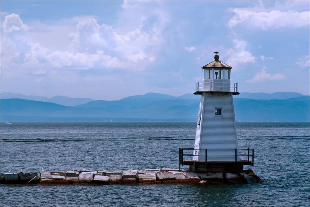 Burlington Breakwater North Lighthouse, Burlington, Vermont