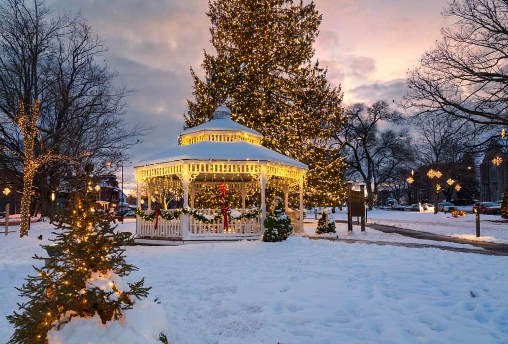 Christmas town gazebo