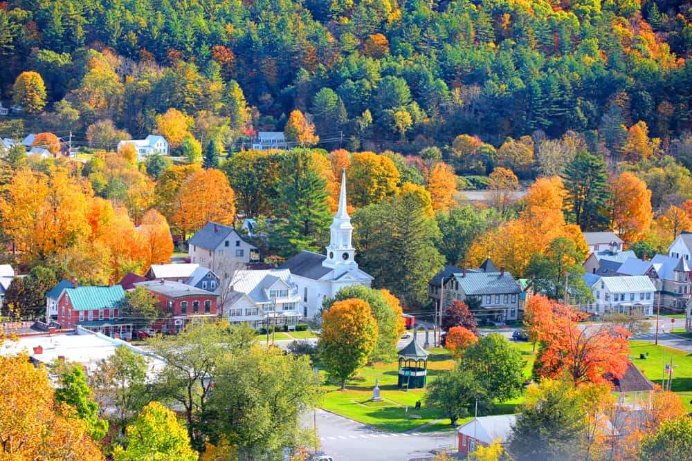south royalton vermont village from the air - most beautiful small towns in new england