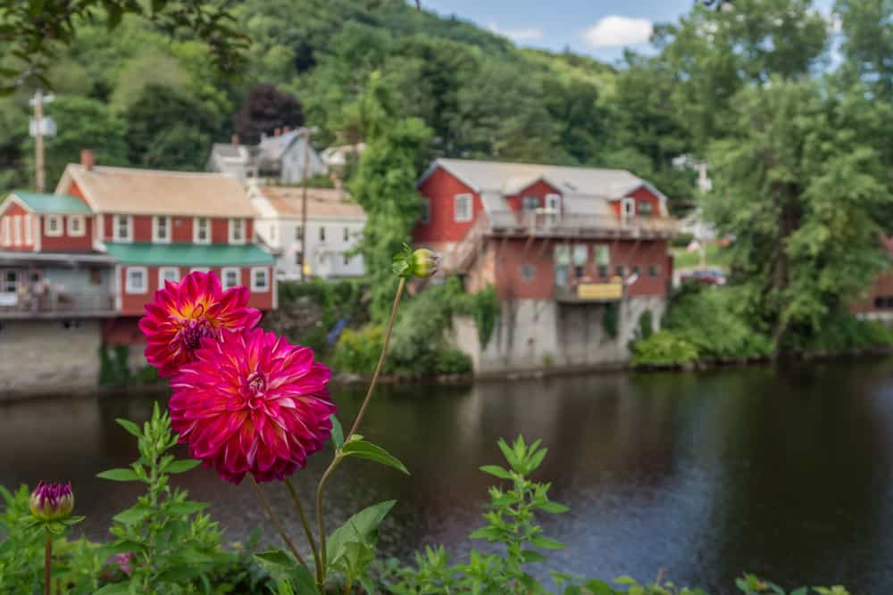 things to do in western ma - image of shelburne falls massachusetts photo of quaint new england village from across river in summertime