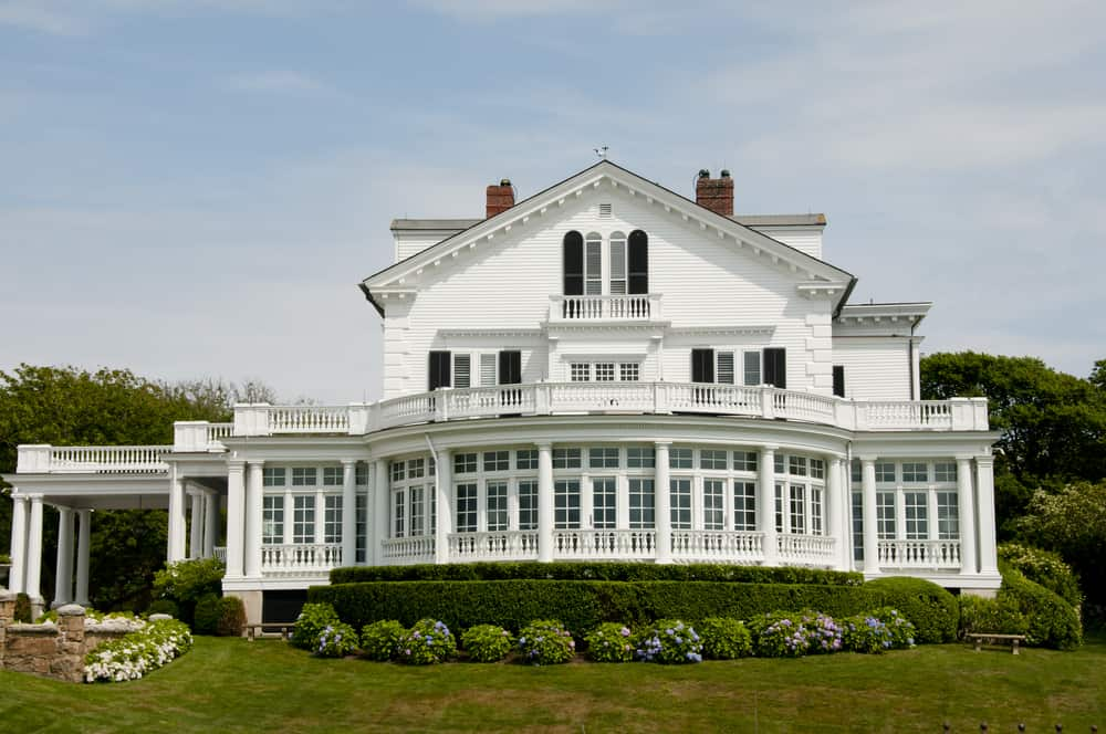 classic white house on rhode island coast - best airbnbs in rhode island