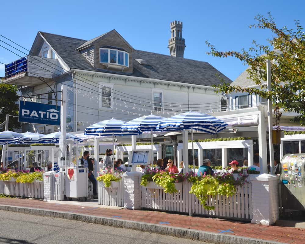 classic outdoor cafe on cape cod, summer day