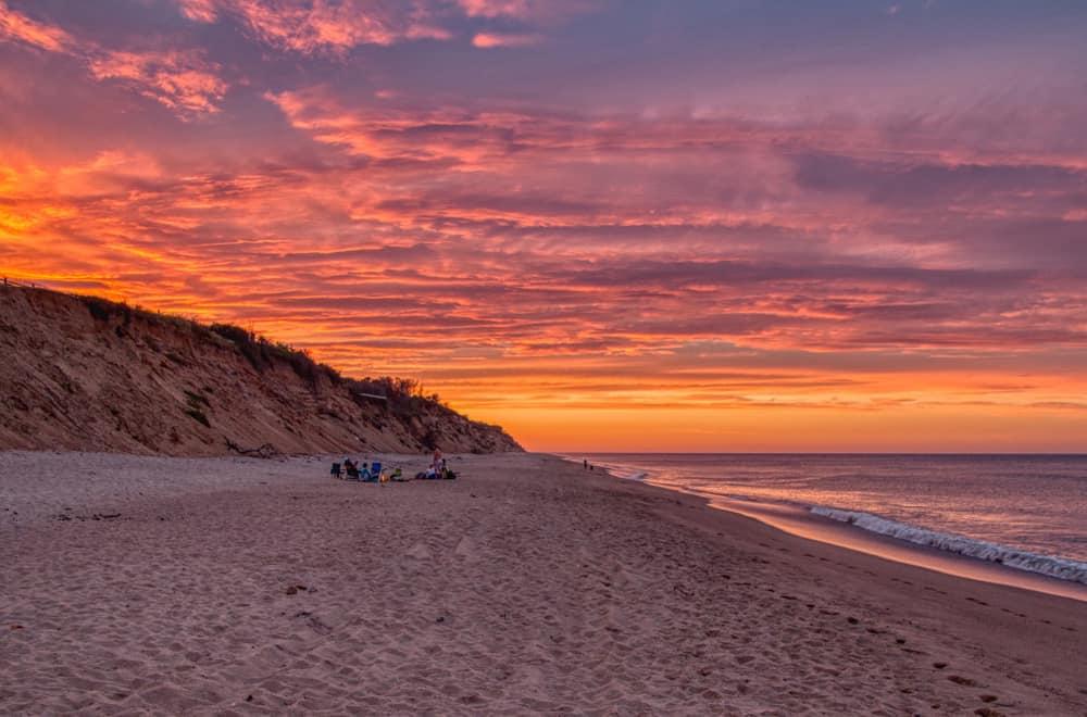 The post sunset beach view - coastal cape cod