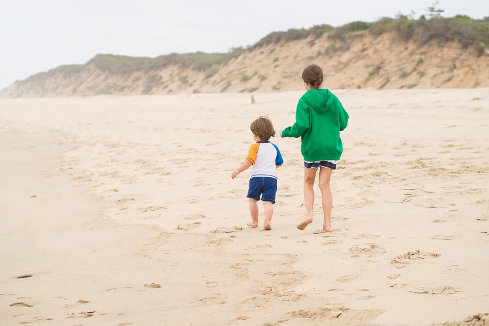 One of the Things to Do in Cape Cod With Kids is to walk on the beach