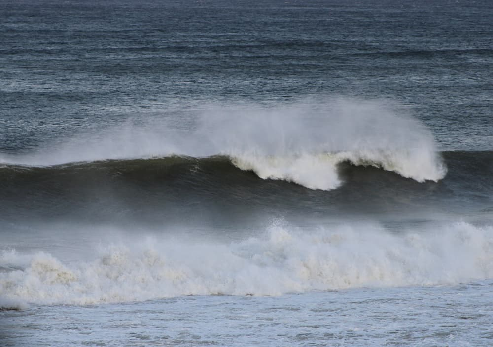 Large Waves at Power Landing, one of the Wellfleet Beaches