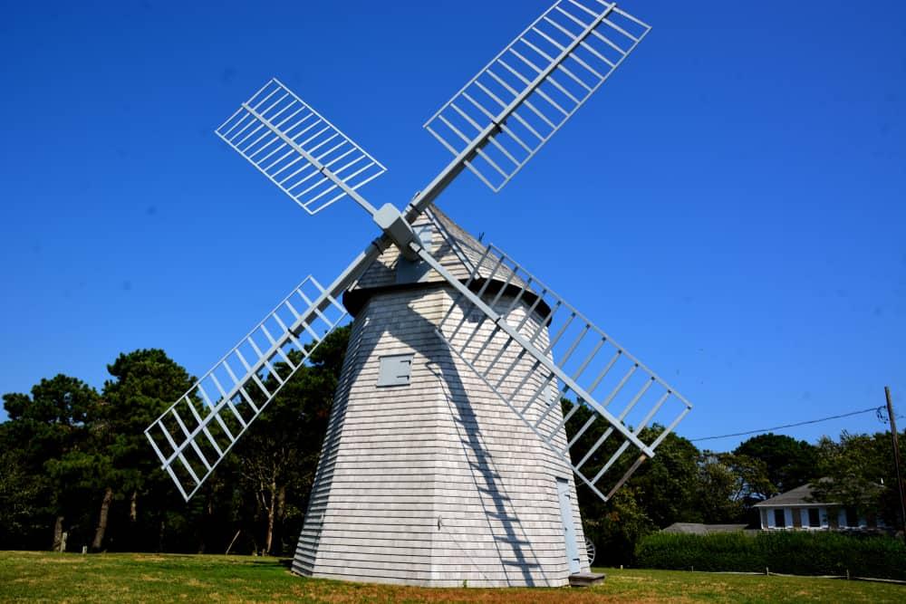 old grey windmill in cape cod massachusetts