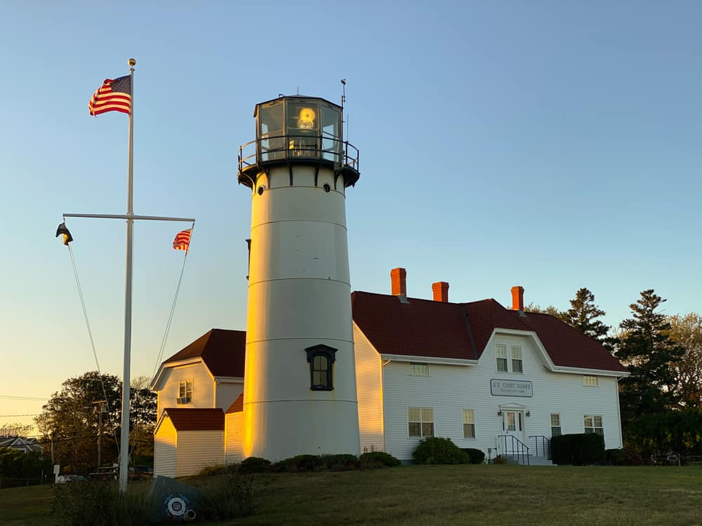 sunset at chatham lighthouse cape cod