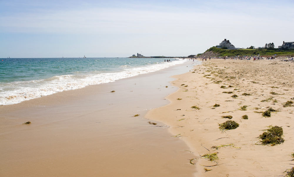 sandy beach filled with people, things to do in Westerly Rhode Island