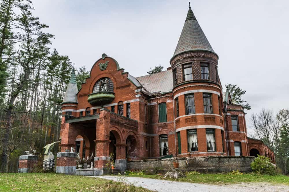 a brick victorian style home: wilson castle in proctor vermont