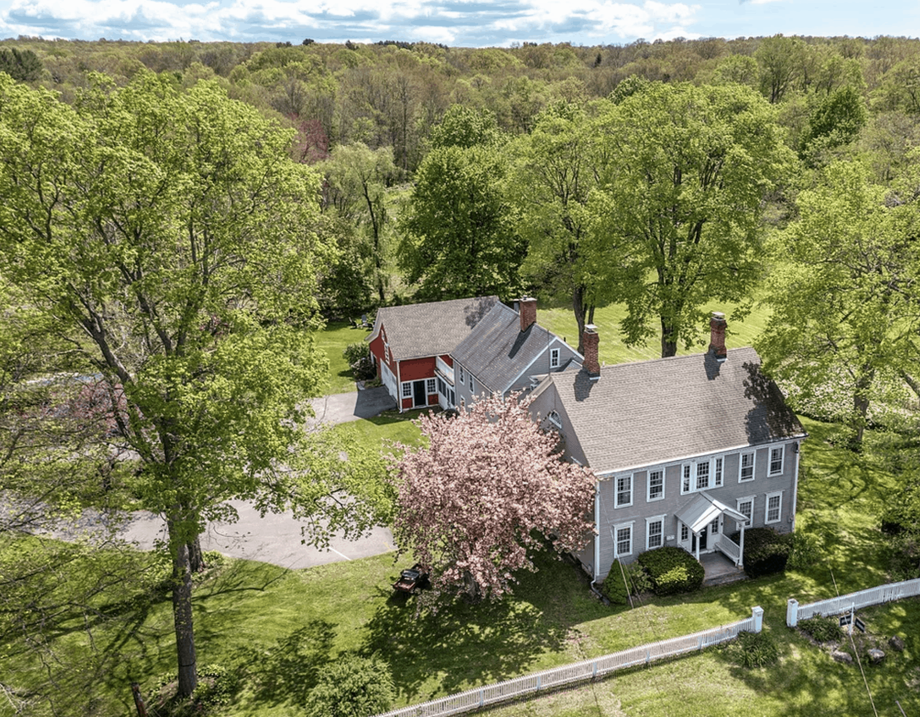 House surrounded by trees and grass
