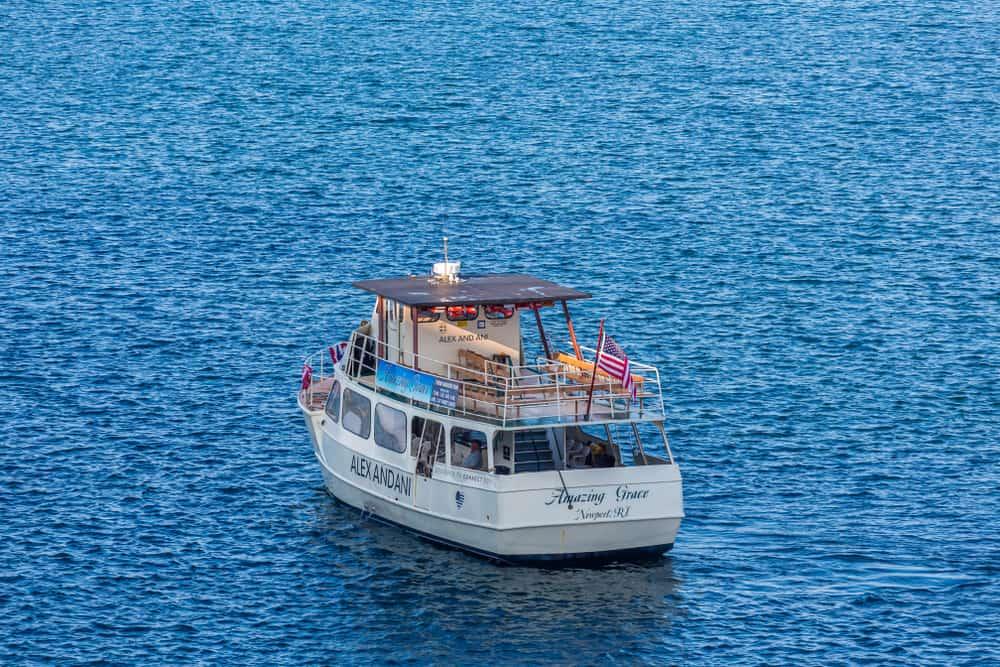 White boat on the ocean