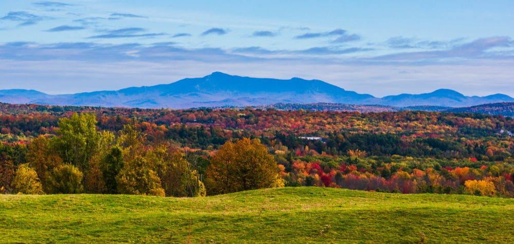 Mountains in the fall in bright colors