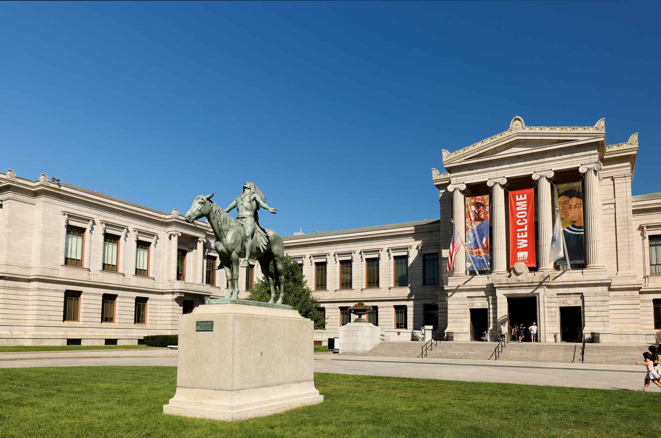 Historic museum with horse statue, best museums in Boston