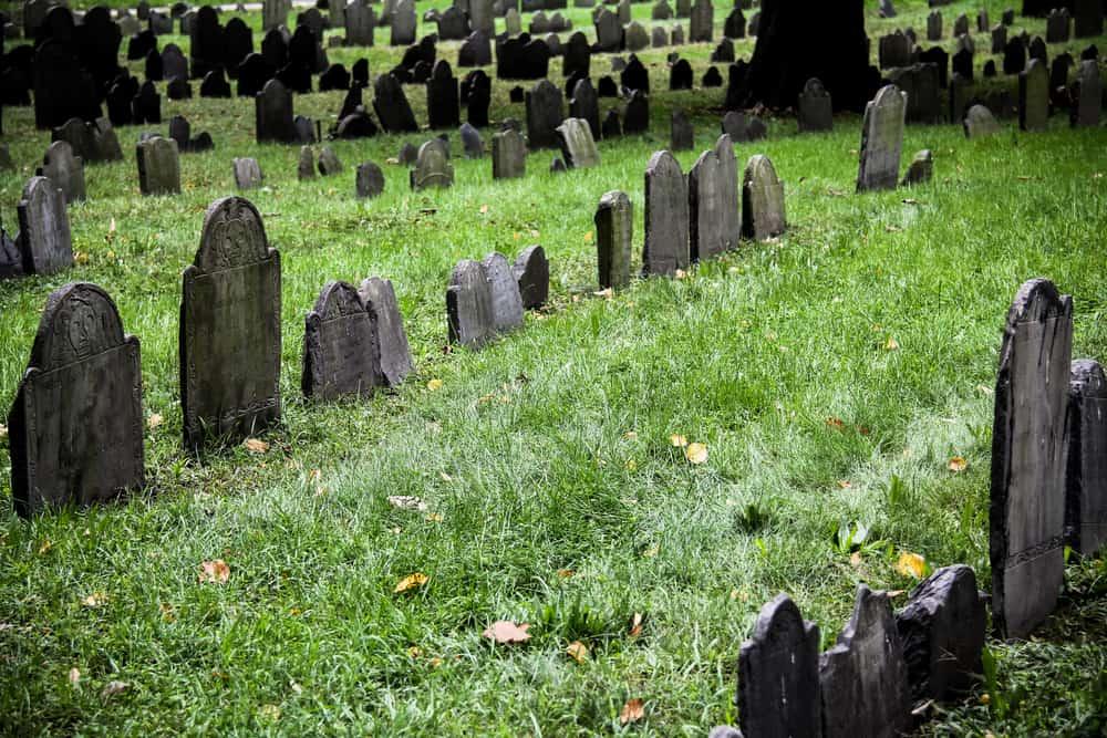 Empty historic graveyard