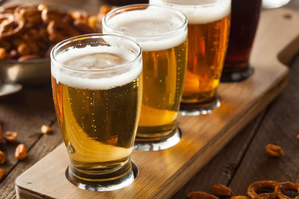 Flight of beers, boston's best breweries