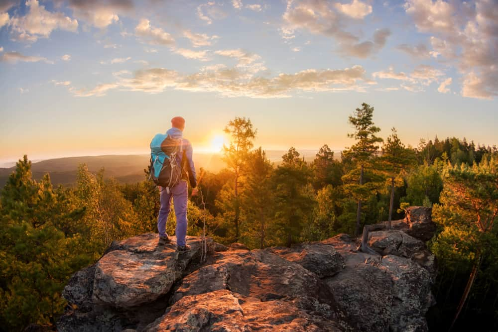 Hiker at summit
